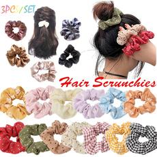 Vintage, scrunchie, scrunchiesforhair, Elastic
