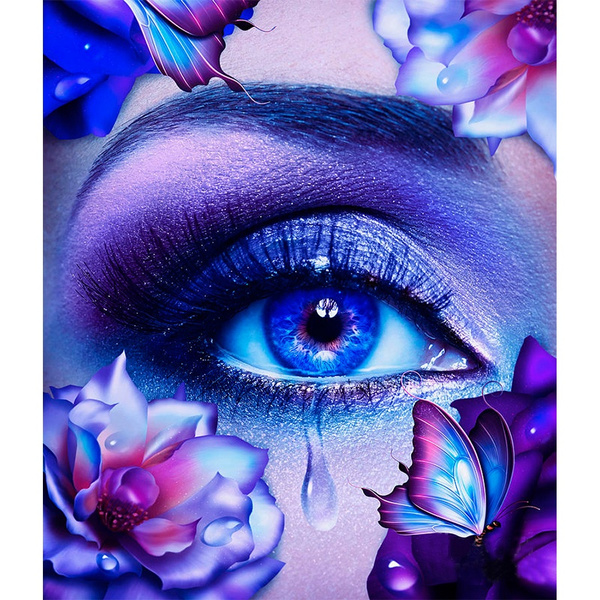 Full Drill Colorful Eye DIY 5D Diamond Painting Kits Art Embroidery Decors Gifts
