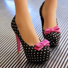 stilettoheel, bow tie, Sweets, Women's Fashion