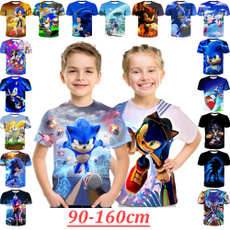 sonic, Funny, kids clothes, Sleeve