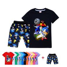 sonic, Shorts, sunmmertshirt, Sleeve