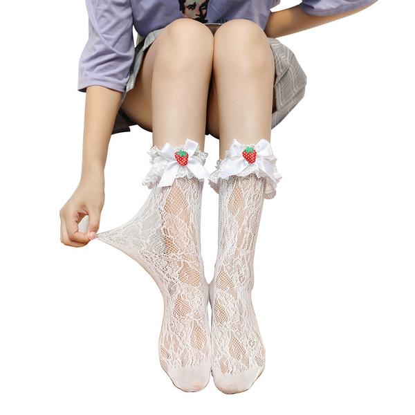 Lolita fashion, kneehighsock, studentsstocking, Knee High