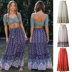 bohemia, Summer, long skirt, summer skirt
