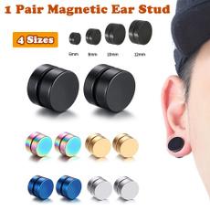 Mens Earrings, Magnet, titanium steel, Stud Earring