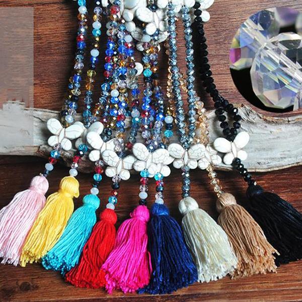 fringednecklace, butterfly, Tassels, Fashion