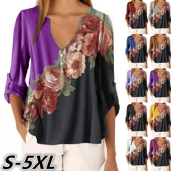 Women Vest, Plus Size, Floral print, Shirt