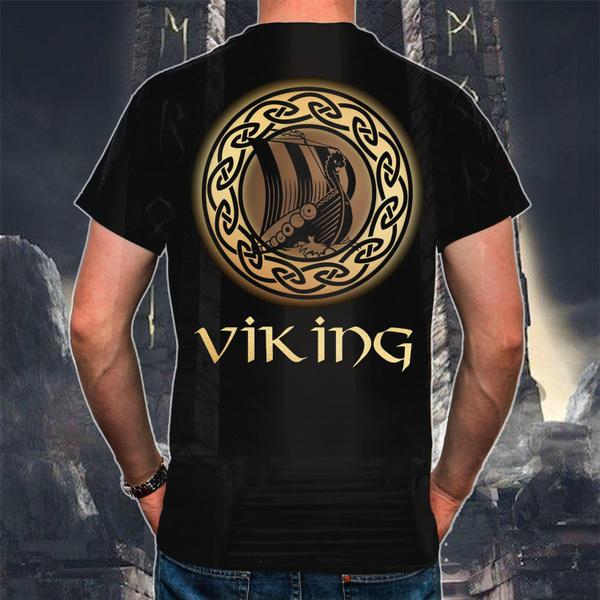viking, T Shirts, Fashion, Print
