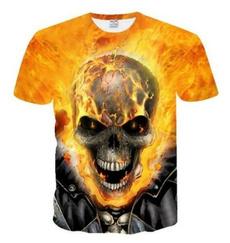 summer t-shirts, unisex clothing, Sleeve, skull