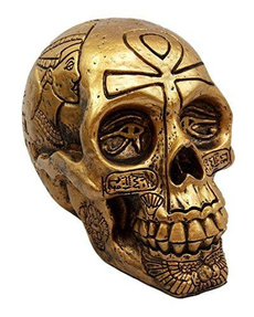 golden, Goth, sphinx, Skeleton