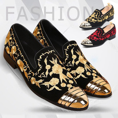 dress shoes, nightclubshoe, embroideryshoe, men's fashion shoes