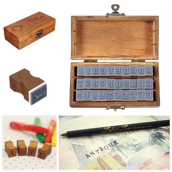 Box, alphabet, Set, Stamps