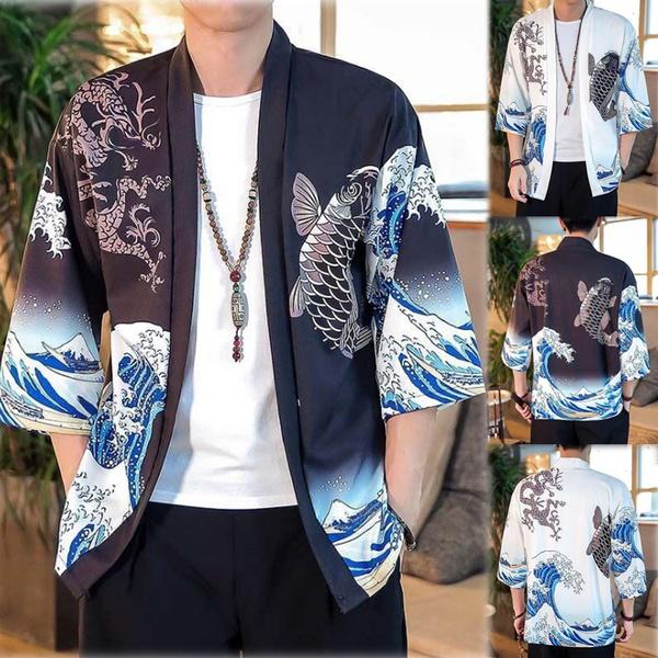 Jacket, Fashion, Floral print, kungfushirt