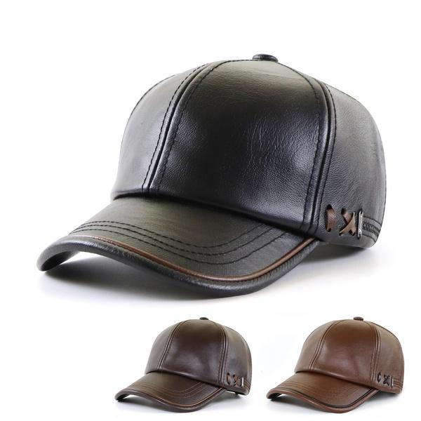 Baseball Hat, leather cap, winter cap, Fashion