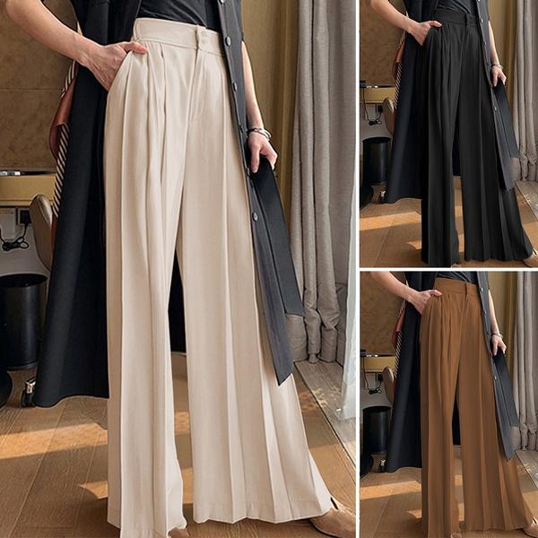 Women Pants, longtrouser, elastic waist, hosendamen