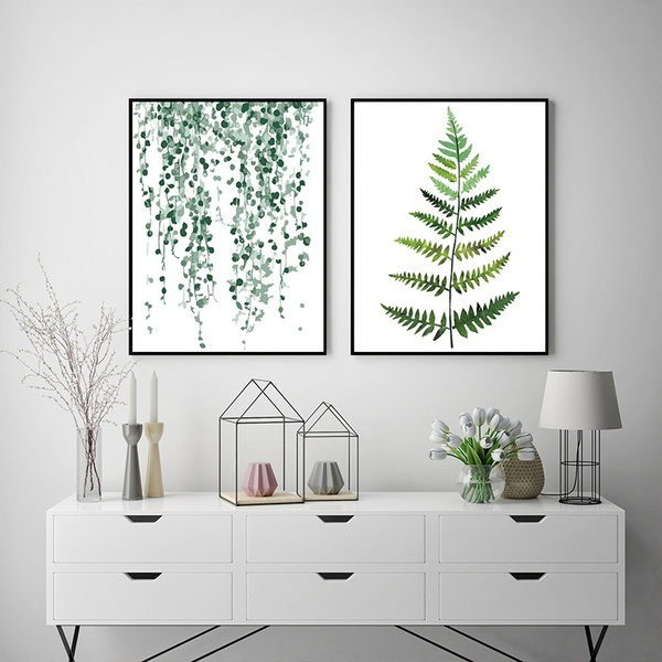 art print, leaves, Decor, scandinaviandecor