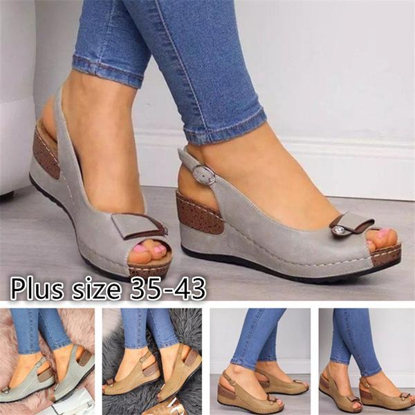 Women Fashion Sandals Shoes Casual Beach Cheap Slippers Plus Size 35 43 Wish