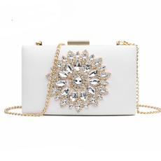 Fashion women's handbags, Summer, white black woman bag, boxhandbag