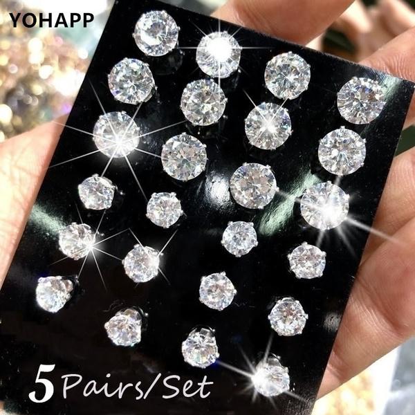 Steel, Cubic Zirconia, DIAMOND, Jewelry