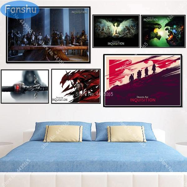 art print, Home & Kitchen, Decor, dragonage3
