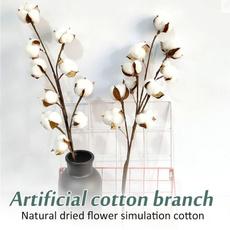 artificialbranche, driedcottonstem, Decor, Flowers