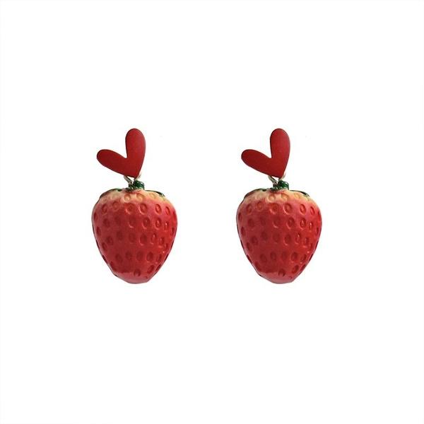 strawberryeardrop, Dangle Earring, Jewelry, Earring