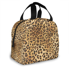 Colorful, coolerbagsforfoodstorage, aluminumlunchbag, Leopard