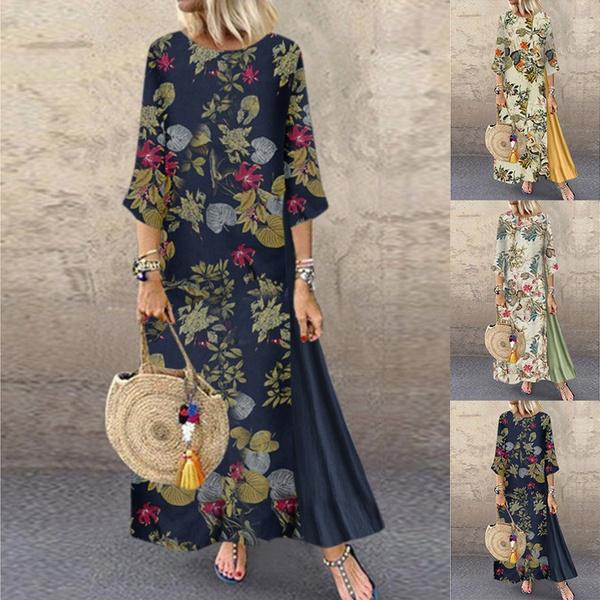 Plus Size, Chinese, long dress, Dress