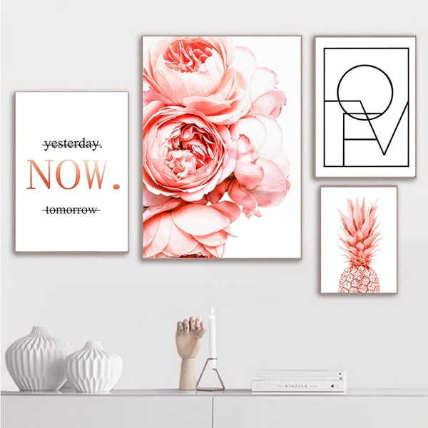 canvasart, pinkpainting, Home Decor, canvaspainting