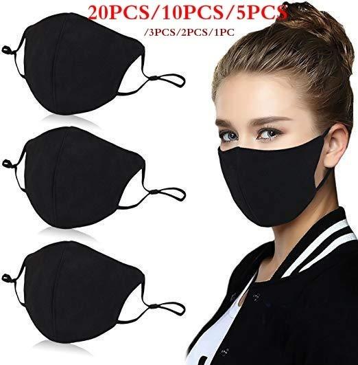 black, blackmask, Breathable, Masks