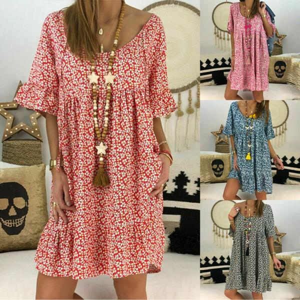 womensloosetop, Summer, Plus Size, tunic