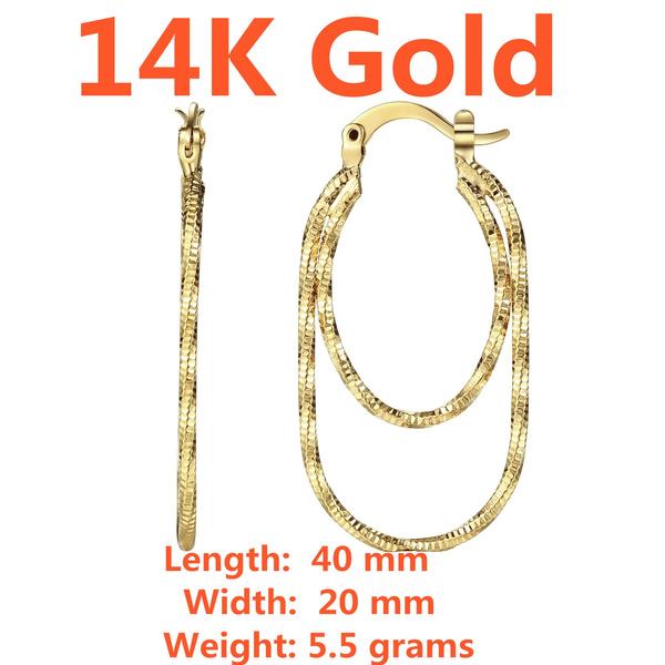earringforwomen, yellow gold, Hoop Earring, Jewelry
