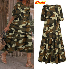 Summer, vestidoscasuale, Plus Size, Dress