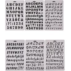 stencil, template, alphabet, Plastic