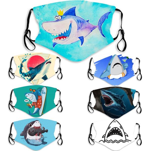 Shark, Colorful, unisex, Masks