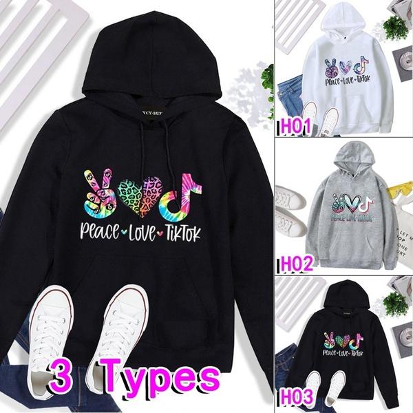 Fashion, Love, pullover hoodie, tiktoksweatshirt