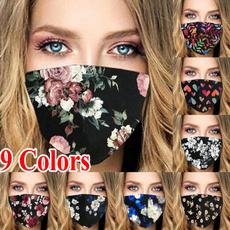 womenmask, unisex, Masks, flowerprinted