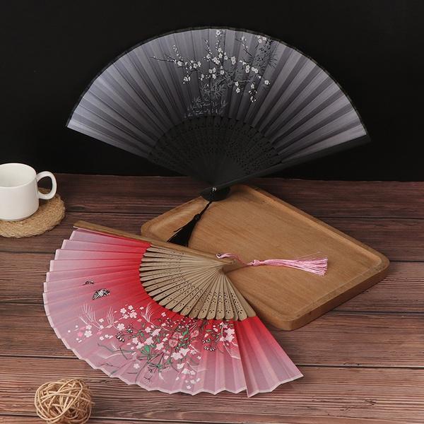 silk, Chinese, foldinghandheldfan, Cloth