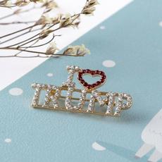 diamondbrooch, englishalphabetbrooch, Love, Pins