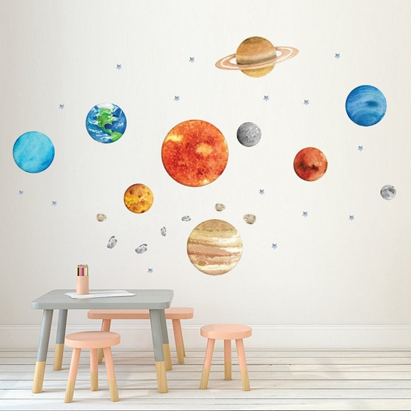 Stickers, nineplanet, decoration, bedroomwallsticker