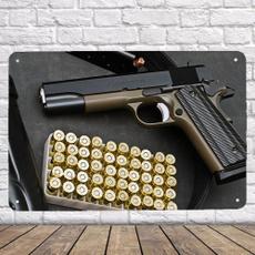 pistol, Wall Posters, bedroom, Metal