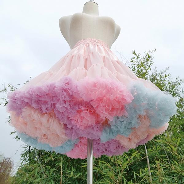 pink, rainbow, Lolita fashion, tutuskirt