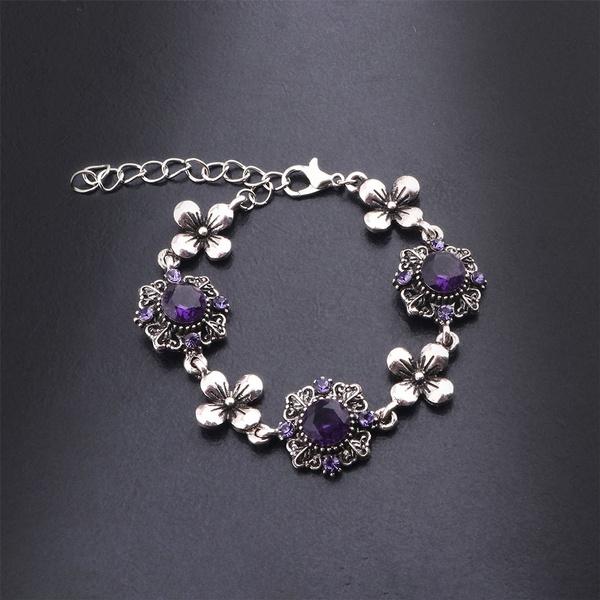Flowers, Jewelry, DIAMOND, purple