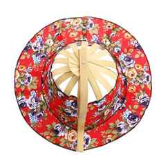 bamboofan, sun hat, printed, Chinese