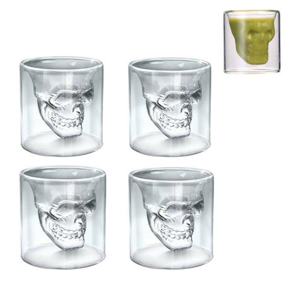 Decor, shot, skull, Cup