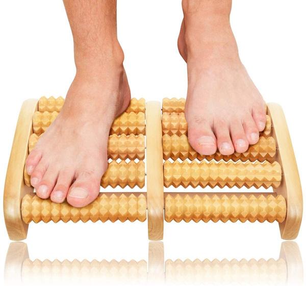 footmassager, woodenfootmassager, footmassagerroller, Massage & Relaxation