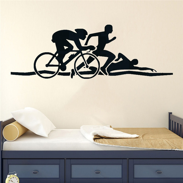 Bikes, triathlon, Sport, Running