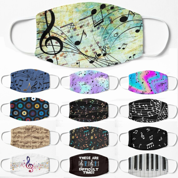musicalmask, Cotton, musicmask, printedfacemask