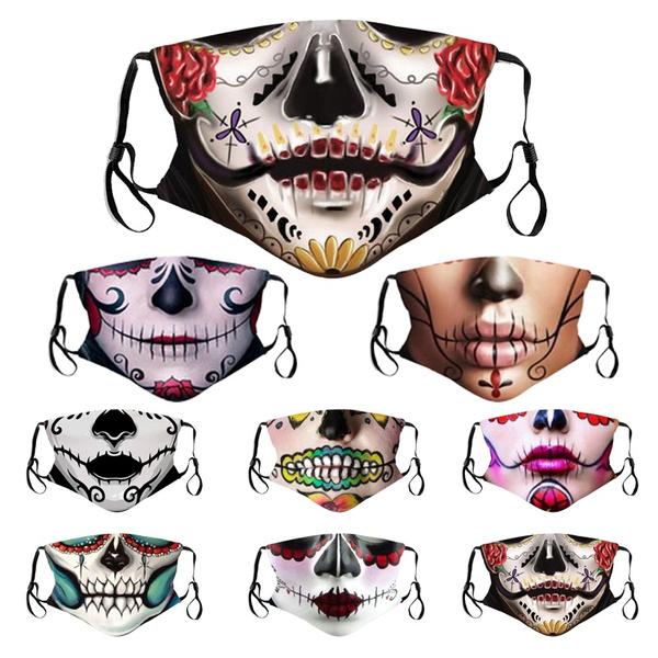 sugarskullmask, mouthmask, skull, printfacemask