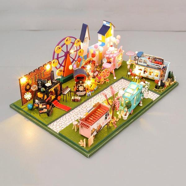 Mini, dollhousefurniturekit, Toy, led