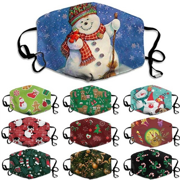 cartoonmask, Christmas, unisex, printedmask